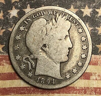 1894-O Barber Silver Half Dollar Collector Coin For Your Set Or Collection .