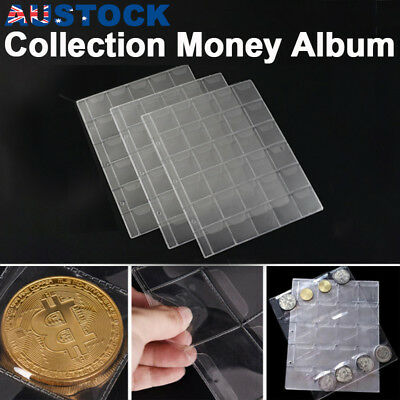 30 Pockets Coin Holders Folder Pages Sheets For Collection Album Storage 10pcs
