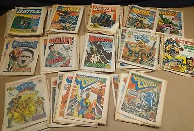 battle comic action warlord 2000AD etc joblot 130+ comics