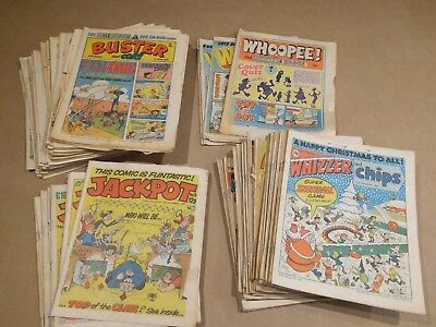 Buster's whizzer and chips whoopee job lot 90 comics