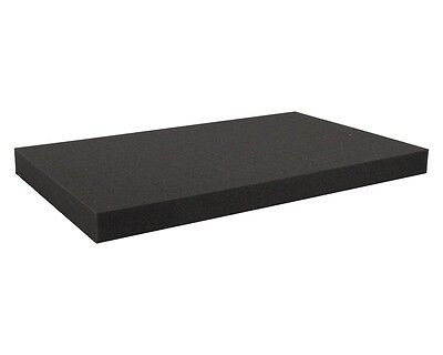 "Professional 1"" X 36"" X 72"" Upholstery Foam Cushion. Charcoal acoustic foam/new."