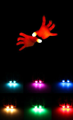 2pcs Magic Finger Lights Bright Light Up Thumbs Trick Appearing Light Close Up