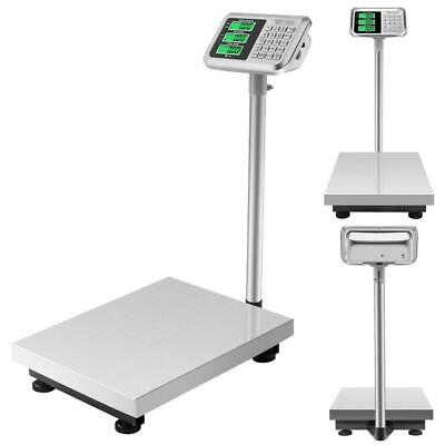 660lbs 300kg Weight Computing Floor Platform Scale Postal Shipping + US Charger