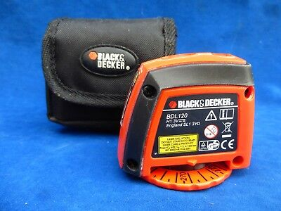 Black & Decker BDL120 Laser Level / Laser Level With Carry Case Pouch