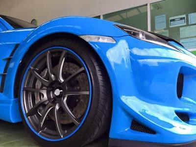 BLUE SCUFFS by Rimblades Car Tuning Alloy Wheel Rim Protectors Tyre Guard Line