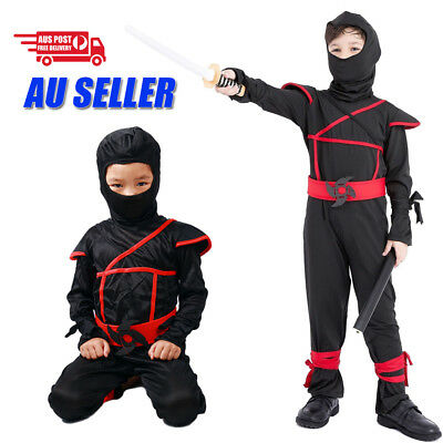 Stealth Ninja Child Kids Boys Fancy Dress Up Party Halloween Cosplay Costume Hot