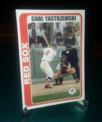 Boston Red Sox Carl Yastrzemski 1978 style Custom Art Card ACEO