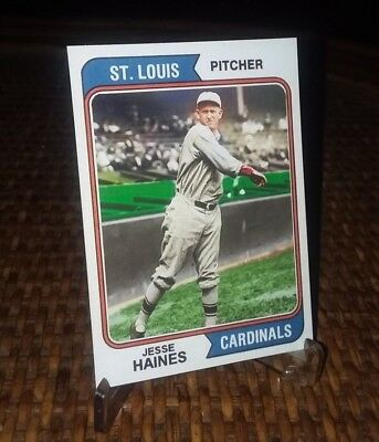 St Louis Cardinals Jesse Haines 1974  style Custom Art Card ACEO