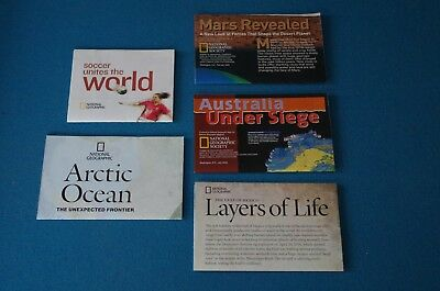 Lot of 5 National Geographic Inserts