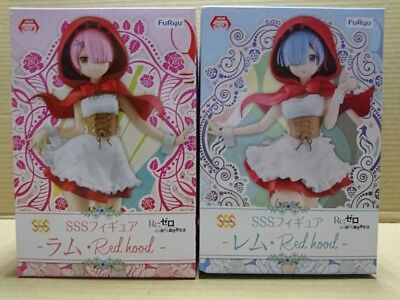 Re:Zero: Red Hood Costume Rem & Ram SSS Figures Set Furyu  Prize 2018