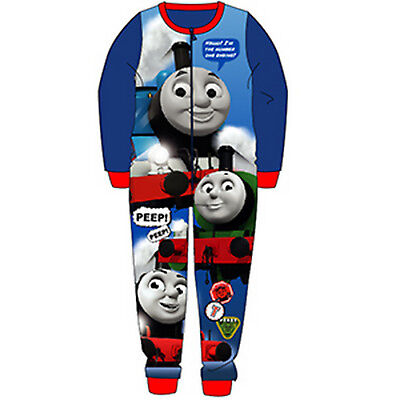 Boys THOMAS THE TANK MICRO FLEECE all in one, pyjamas, pjs 18mths -5yrs