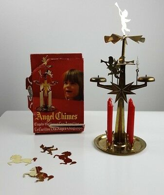 Vintage Swedish Christmas Angel  Party Chimes + 21 Candles Made in Sweden
