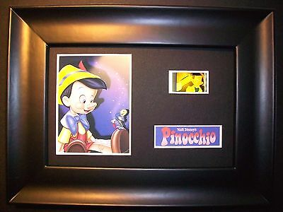 PINOCCHIO Framed Movie Film Cell Memorabilia - Compliments poster dvd