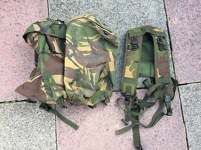 British army issue DPM PLCE Bergan side pouches daysack pack with yoke & straps