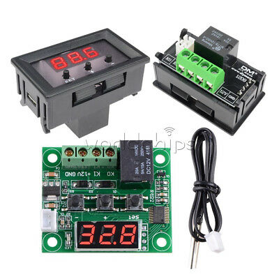 W1209 Digital 12V Thermostat -50-110°C Temperature Controller Switch Sensor+Case