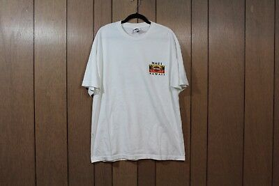 Vintage 90s Harley Davidson Motorcycle Mens XL Hawaii Spell Out T-Shirt White