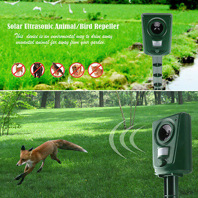 Effective Ultrasonic Solar Power Garden Pest Animal Repeller Repellent Dog Rat