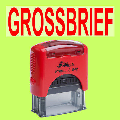 GROSSBRIEF - Shiny Printer Rot S-842 Büro Stempel Kissen Rot