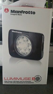NEW Manfrotto LUMIMUSE 8 LED Light and Accessories - Black SEALED in retail box