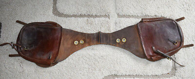 Vintage Leather Western Saddle Bags Cowboy Used