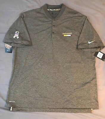 NEW XXL Washington Redskins Nike Mens Salute To Service Performance Polo  Shirt eb1e9d785