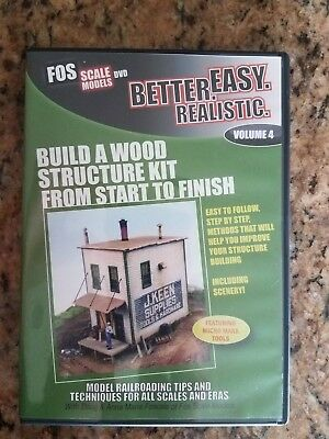 FOS Scale Models Dvd Build A Wood Structure Kit From Start To Finish Vol 4