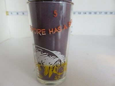 Vintage Winnie The Pooh Canadian Issue 1965 Drinking Glass Tumbler