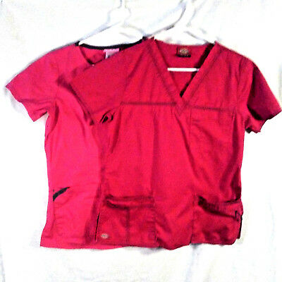 a866fcab078 Women's PINK Scrub Tops Lot of Two Shirts Extra Small XS Dickies & UA Scrubs