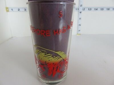 Vintage  Canadian Issue Disney Winnie The Pooh #5 Red Variation Drinking Glass