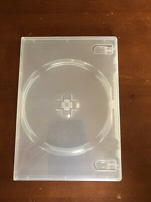 Set of 10 Brand New Clear Single DVD Cases