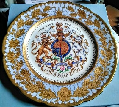 2012 Buckingham Palace Diamond Jubilee Bone China Plate Queen Elizabeth  11""