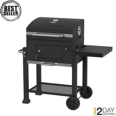 Expert Grill Heavy Duty 24 Inch Charcoal Grill Black Chrome Warming Rack Measure