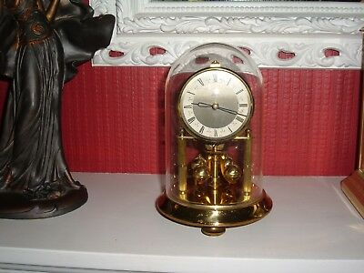 """Kern & Sohne Anniversary Clock with Plastic dome (for repair) 7"""" tall"""