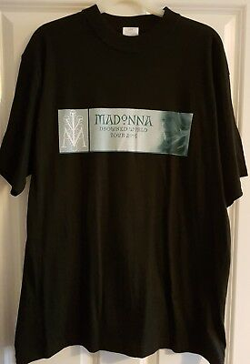 NEW UNWORN Madonna Drowned World official tour tshirt 2001 - Large