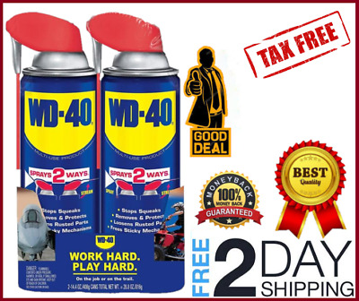Pack Of 2 WD 40 Multi Use Product Smart Straw Shield Moisture corrosive 14.4 Oz