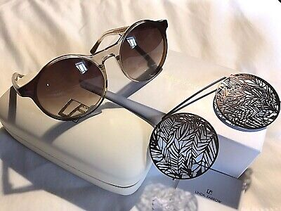 bbf12e0cb37 LINDA FARROW Matthew Williamson Clip On Clear Mocha Sunglasses MW139 JAPAN