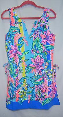 6aace2aeebc3 NEW Lilly Pulitzer Donna Romper Size 4 Easy Tiger Engineered Multi Dress NWT