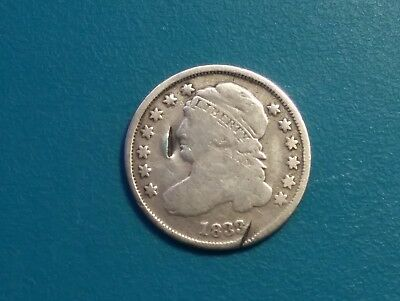 1833 Capped Bust Silver Dime ..VG Detail