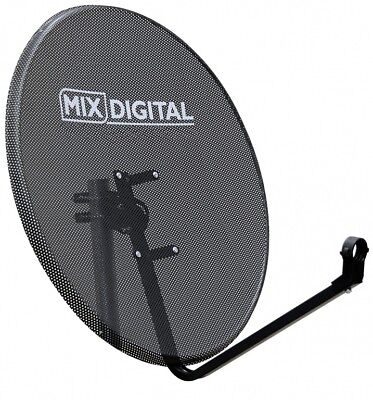 80cm Mesh Satellite Dish with Pole Mount Fittings Freesat TV Hotbird Astra