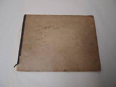 19Th Century Antique Artist Sketchbook Pencil Drawings Women Male Nudes Dogs
