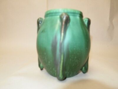 Wonderful Scott Draves Door Pottery Arts And Crafts Green Vase 5 1/2 Inches