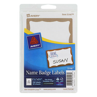 avery white adhesive name badges 2 1 3 x 3 3 8 pack of 80 25395