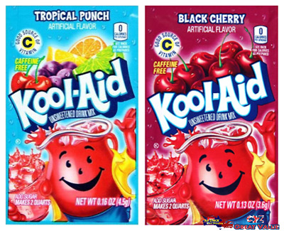 10x EXPIRED US Kool-Aid Unsweetened Soft Drink Mix | FOR DYE COLOR ONLY
