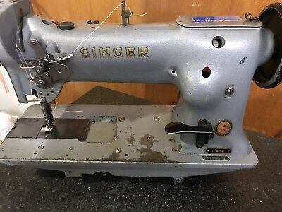 Singer 111G156Triple Feed Industrial Sewing Machine With Reverse! Rare