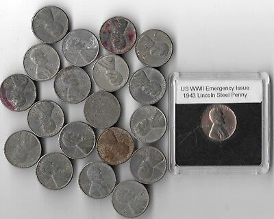 20 Rare Old WWII US Collection WW2 Lincoln Penny Cent Vintage War Coin Money Lot