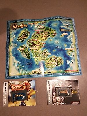 GOLDEN SUN & The Lost Age Nintendo Game Boy GameBoy Advance Complete ...