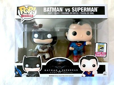 First to Market Batman Vs Superman 2-Pack 2015 SDCC Exclusive Funko POP! Vinyl