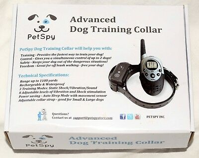 Pet Spy 1100 Yards Remote Dog Training Shock Collar for Dogs with Beep Vibration