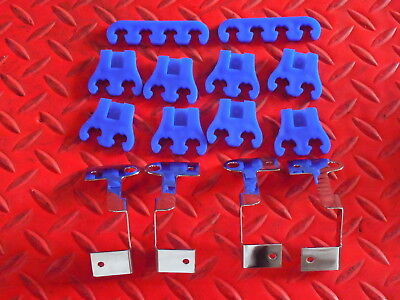 Spark Plug Wire Dividers Blue Separators With Triple Chromed Brackets