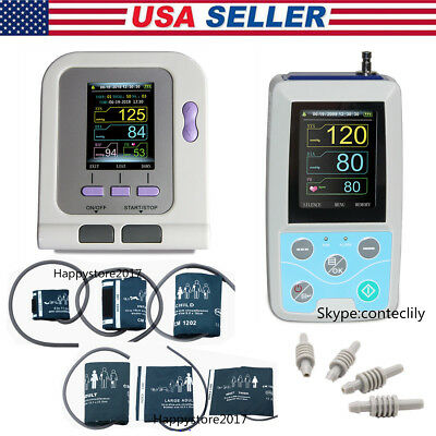 USA Stock CONTEC Blood Pressure Monitor, Neonatal Adult NIBP Holter, Upper Arm